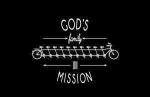 GOD'S FAMILY ON MISSION LOGO inverted