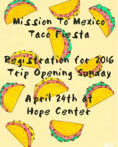 4-24-16 m2m taco sunday registration opens