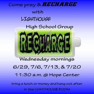 LIGHTHOUSE RECHARGE 6-29- 7-20-16 FOR INSTAGRAM