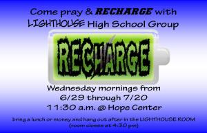 LIGHTHOUSE RECHARGE 6-29- 7-20-16 slide